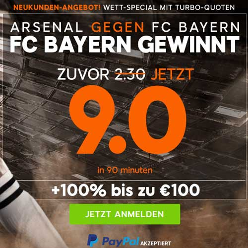 Arsenal London - Bayern München PriceBoost